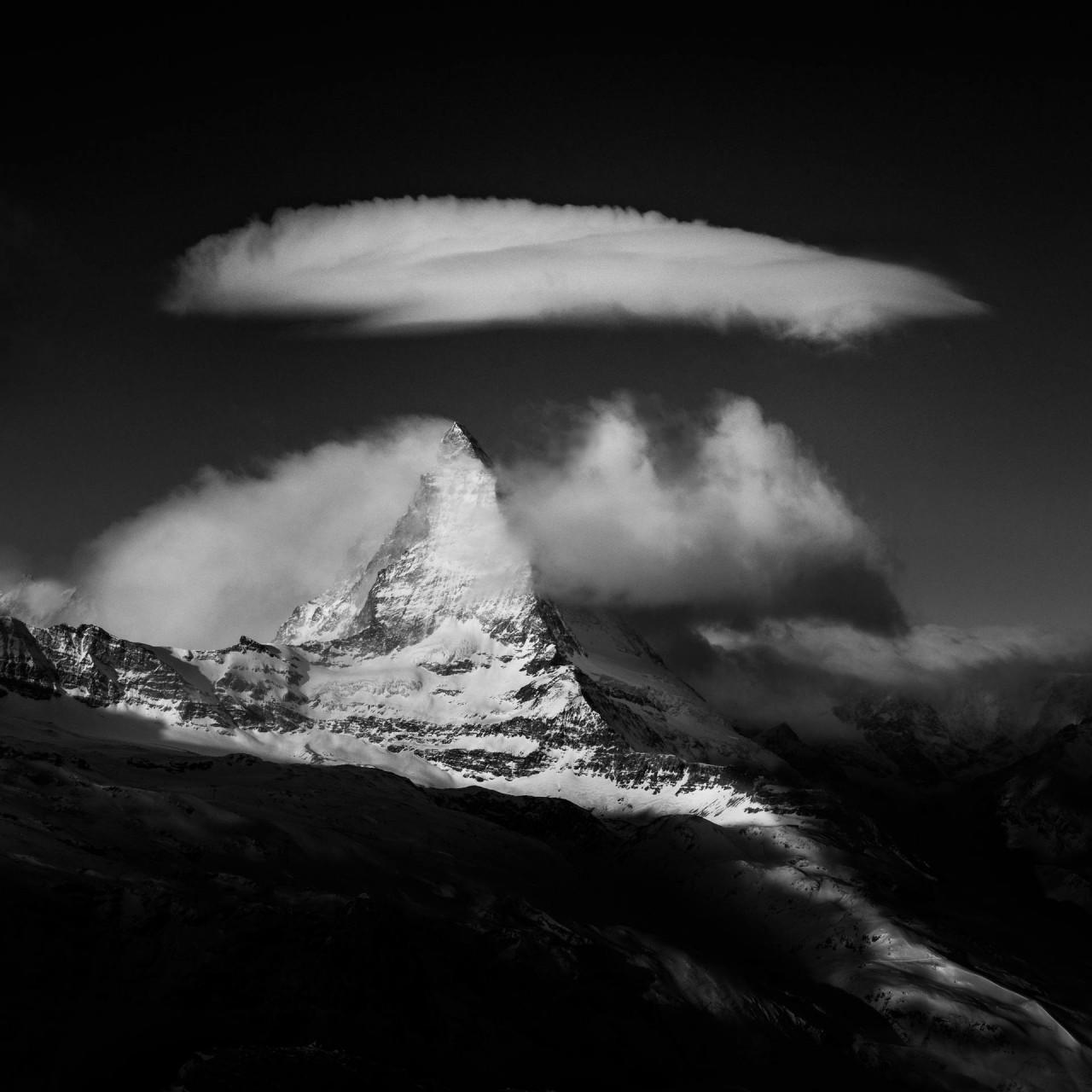 Облака над горой Маттерхорн, Швейцария, 2019. Автор Петер Свобода
