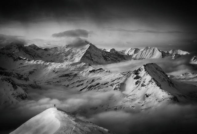 Человек и его мечта. Австрийские Альпы. Автор Петер Свобода