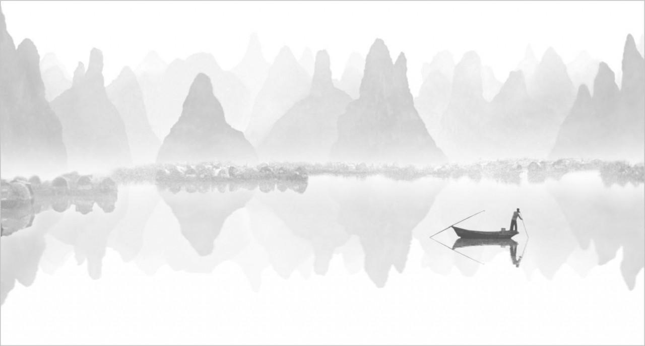Зеркальная гладь озера. Автор Фан Хо