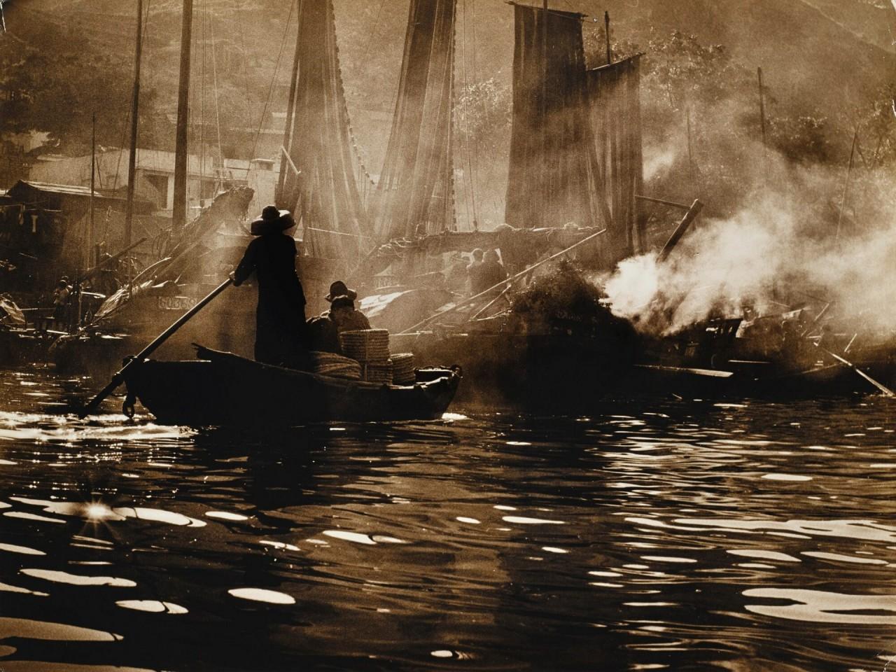 Рыбацкая гавань, Гонконг, 1961. Автор Фан Хо