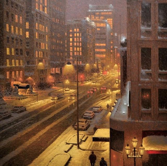 Вид из окна в Монреале. Автор Ришар Савуа