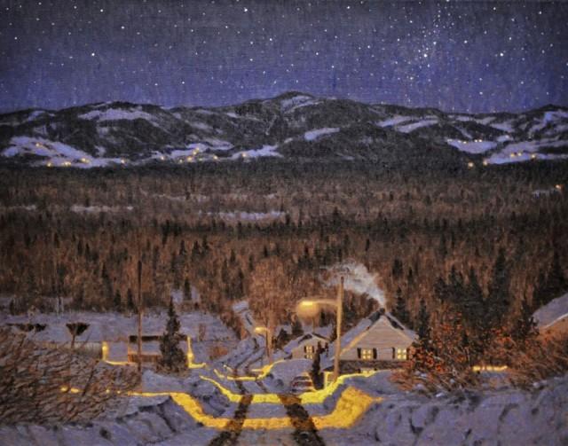 Звёздная ночь в Шарлевуа. Автор Ришар Савуа