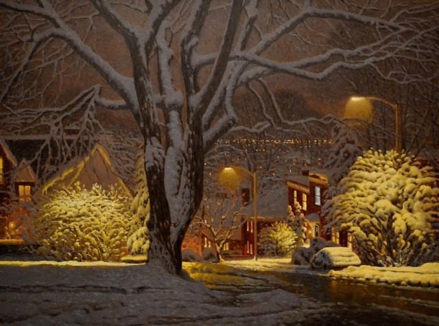 Зимний вечер. Автор Ришар Савуа