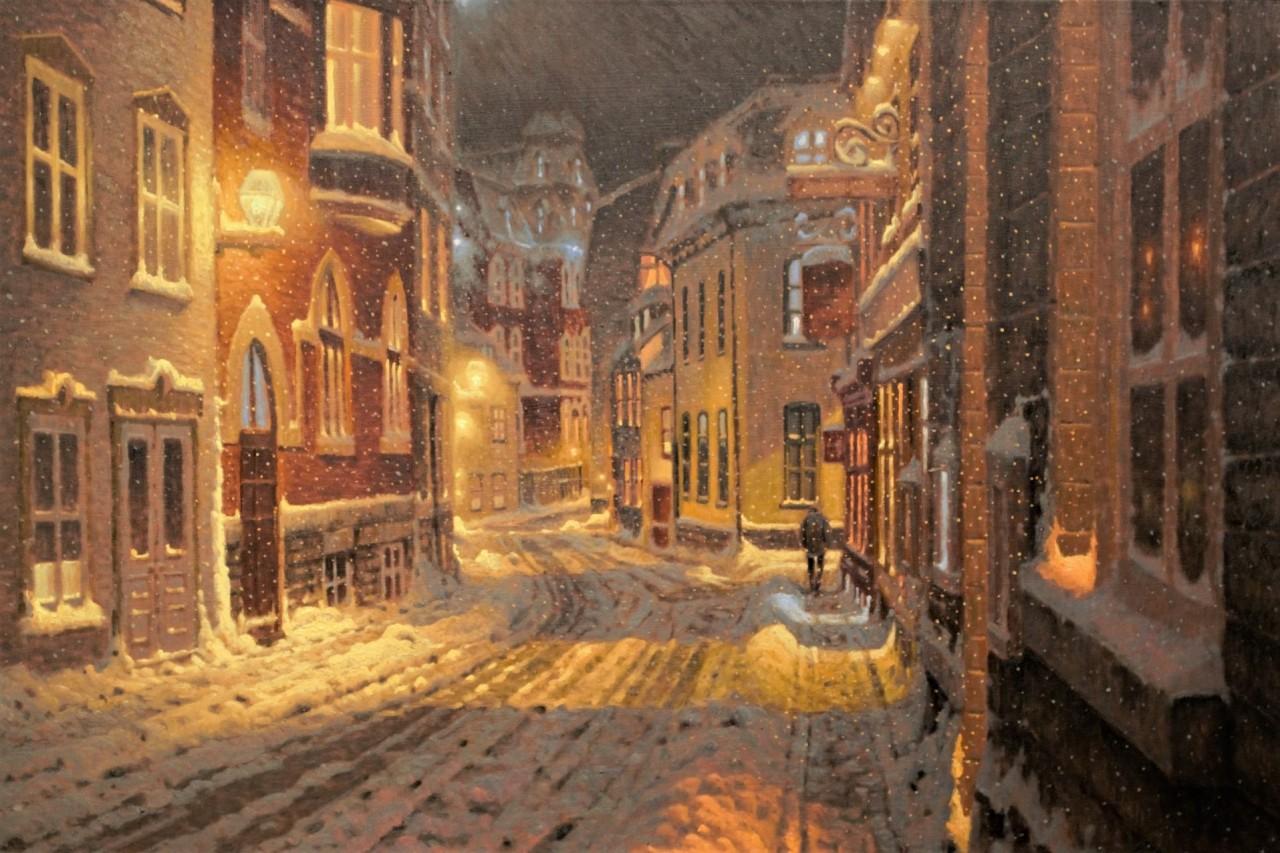 Снегопад в Старом Квебеке. Автор Ришар Савуа