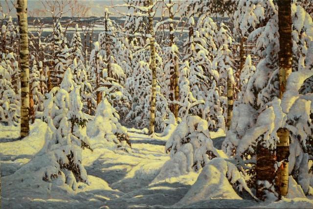 Снежные верхушки Шарлевуа. Автор Ришар Савуа
