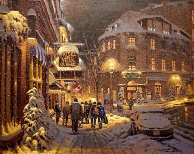 Улица Сент-Жан, Старый Квебек. Автор Ришар Савуа