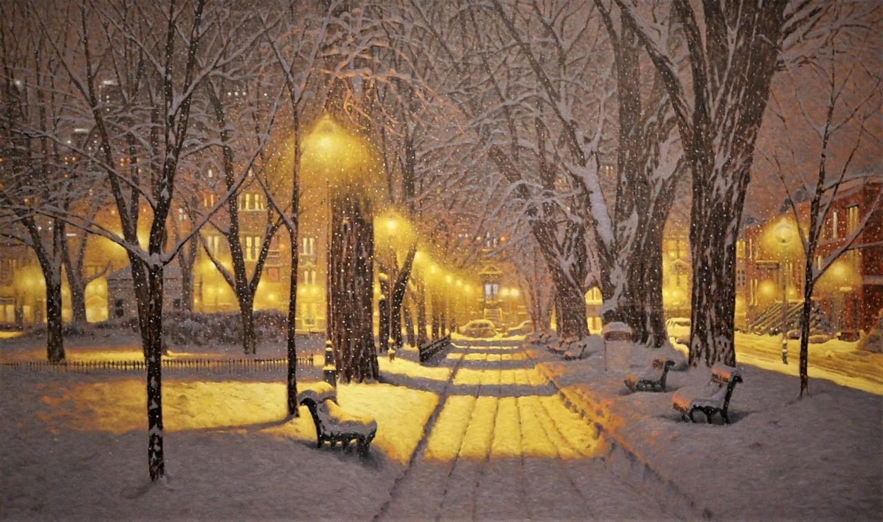 Аллея в Монреале. Автор Ришар Савуа