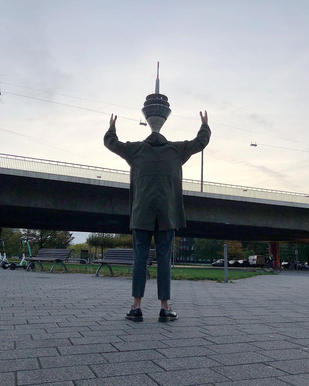 «Башенная голова». Дюссельдорф, Германия. Автор Тиаго Силва