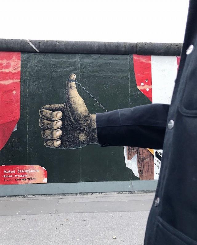 «Мне правда нравится Берлин». East Side Gallery, Берлин. Автор Тиаго Силва