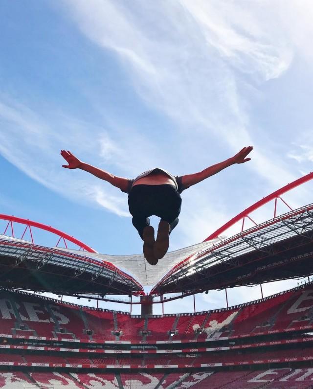 «Полёт орла». Футбольный стадион в Лиссабоне, домашняя арена «Бенфика». Автор Тиаго Силва