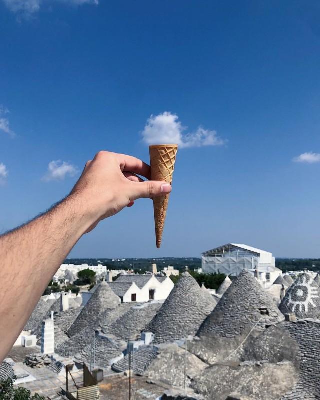 «Традиционное итальянское мороженое». Альберобелло, Италия. Автор Тиаго Силва
