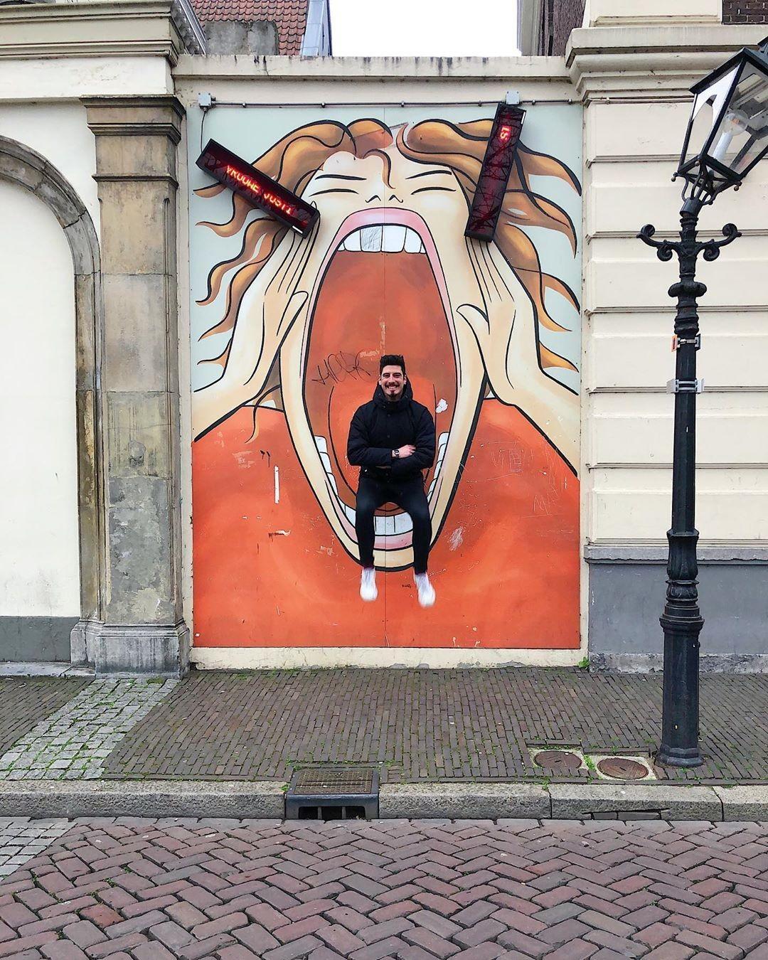 «Чёрный язык». Утрехт, Нидерланды. Автор Тиаго Силва