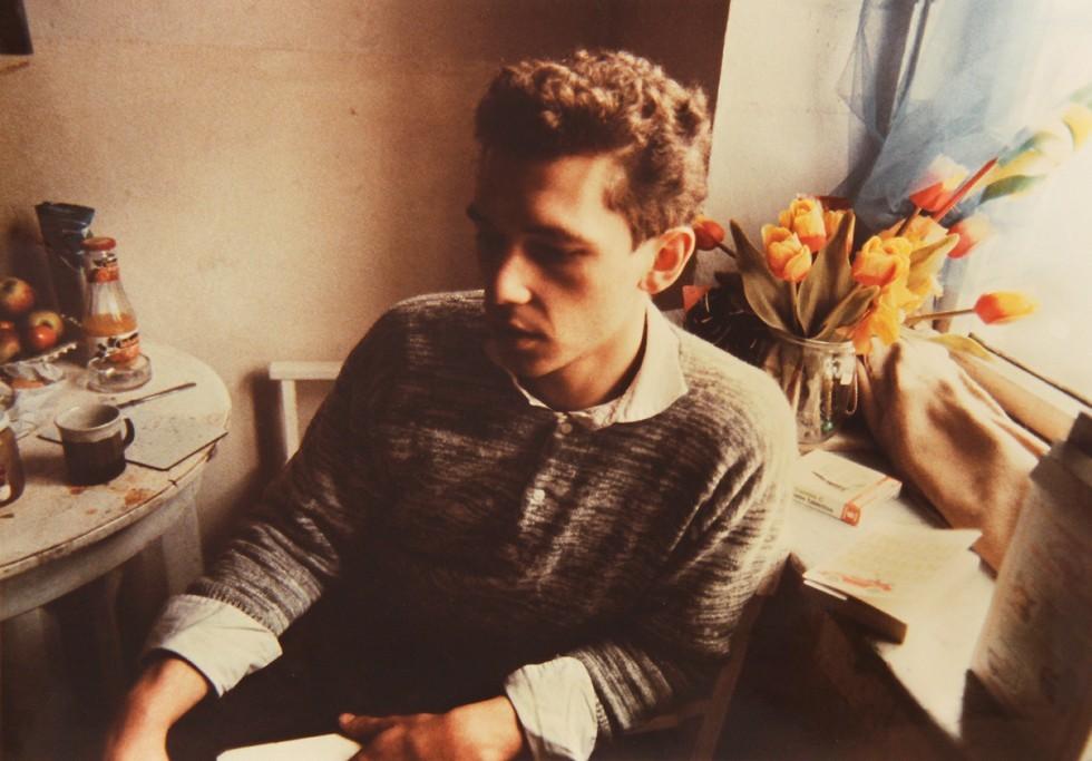 Дитер с тюльпанами, Мюнхен, 1984. Автор Нан Голдин