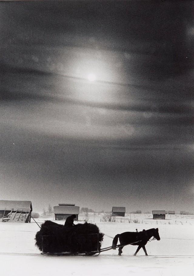 Возвращение домой с сеном, Норрботтен, 1966. Автор Суне Юнссон
