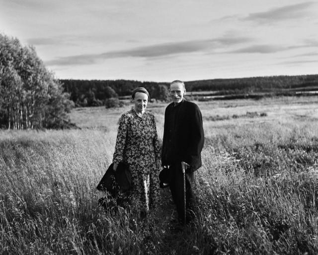 Альберт и Теа Йоханссон, Нюокер, Нордмалинг, 1956. Автор Суне Юнссон