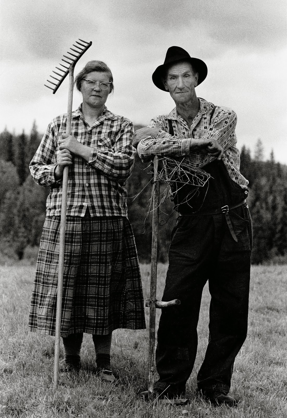 Мелкие фермеры Фриц и Вера Эрикссон, Ликселе, 1966. Автор Суне Юнссон