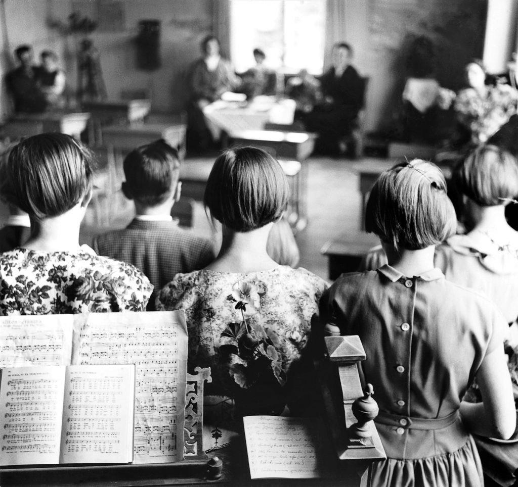 Школьный выпускной, Хольмон, Умео, 1956. Автор Суне Юнссон
