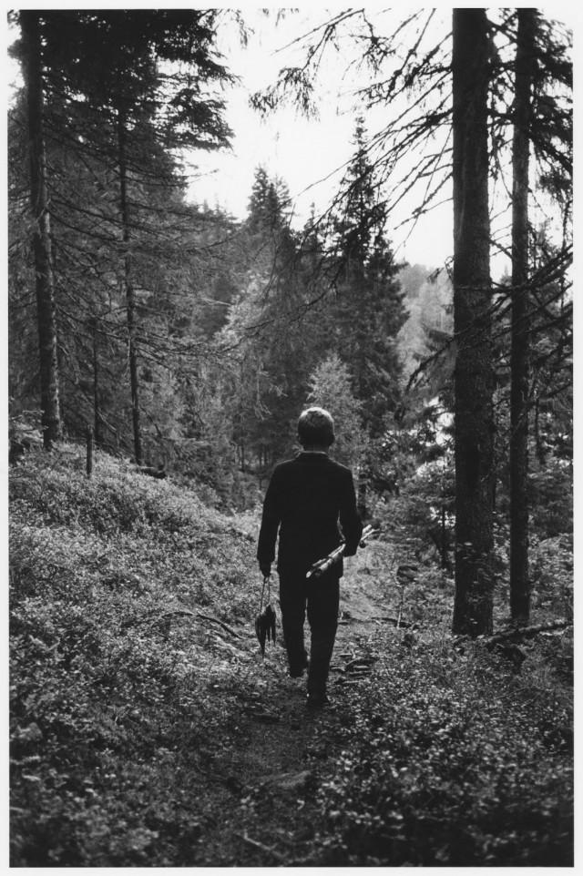 Эдвин Йонссон после рыбалки, Нордмалинг, 1960. Автор Суне Юнссон