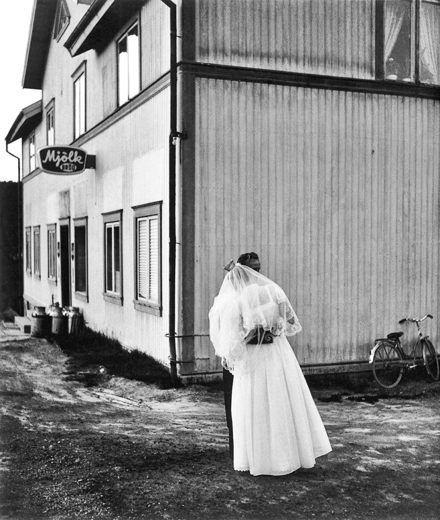 Свадьба Алвара и Ирмы Йоханссон, Эрншёльдсвик, 1957. Автор Суне Юнссон