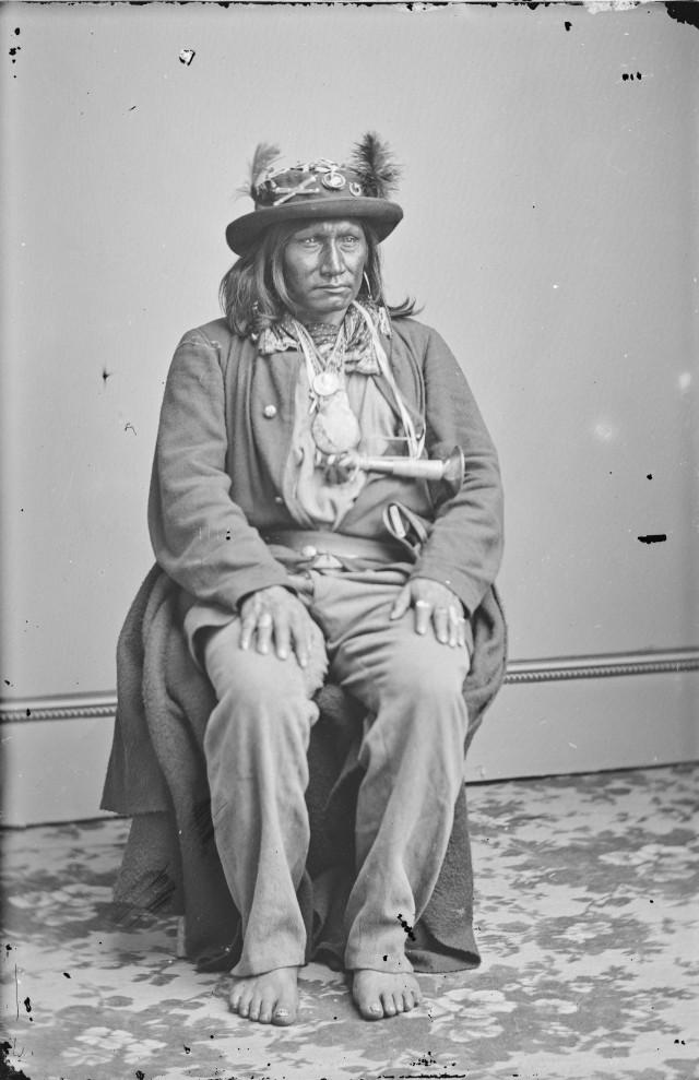 Индеец, 1860–1870. Автор Мэтью Брэди