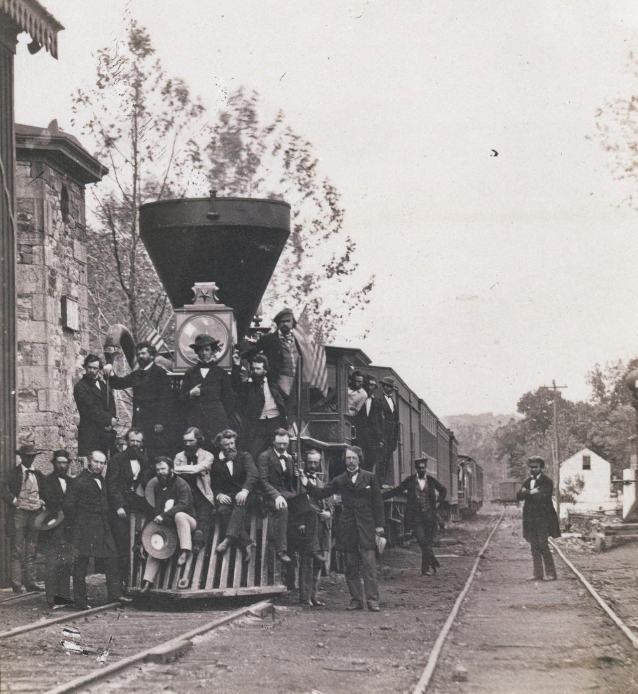 Экскурсия художников, Беркли-Спрингс, Западная Виргиния, 1858 год