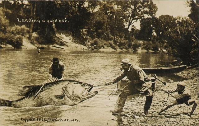 Открытка «Большой улов», 1910-е годы. Автор У. Х. Мартин