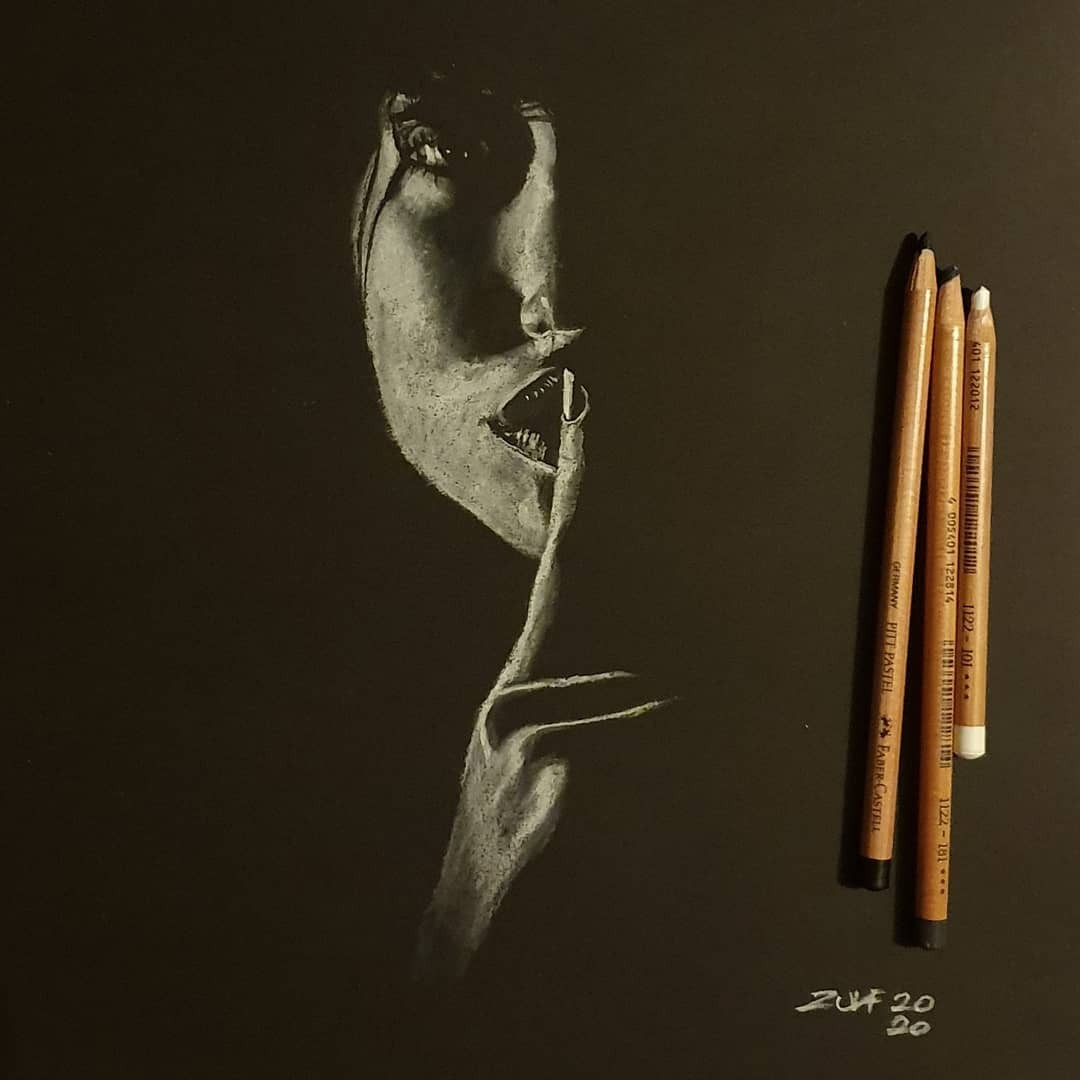 Серия рисунков «Из темноты». Автор Зульф (5)