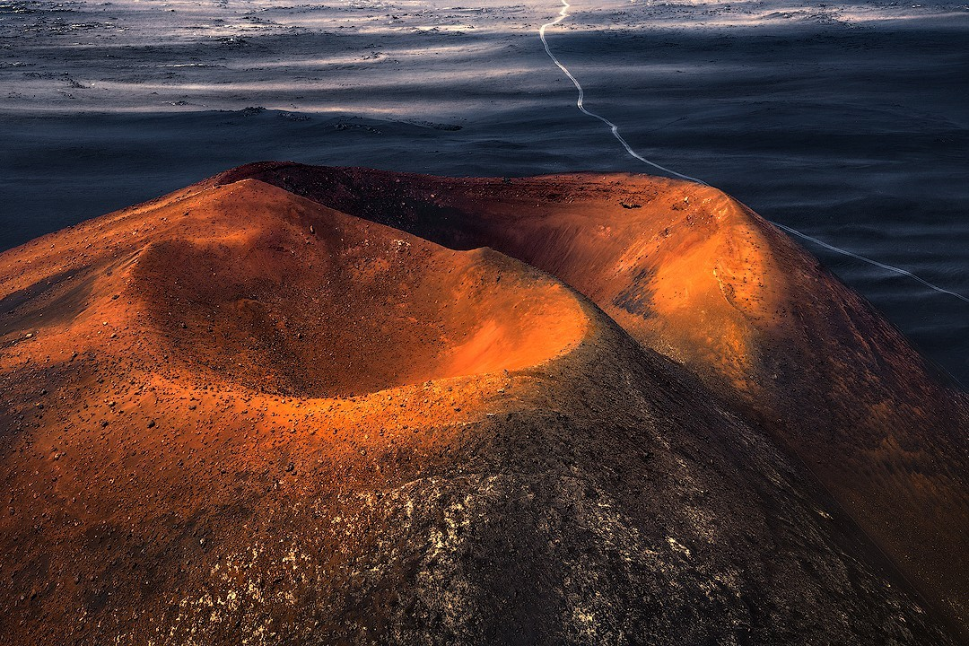 Вулканические близнецы, Камчатка. Автор Изабелла Табаччи
