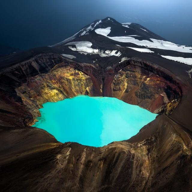 Глаз вулкана. Малый Семячик, Камчатка. Автор Изабелла Табаччи