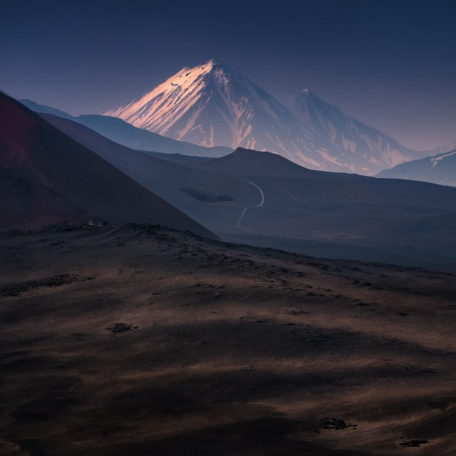 Путь к вулкану Зимина, Камчатка. Автор Изабелла Табаччи