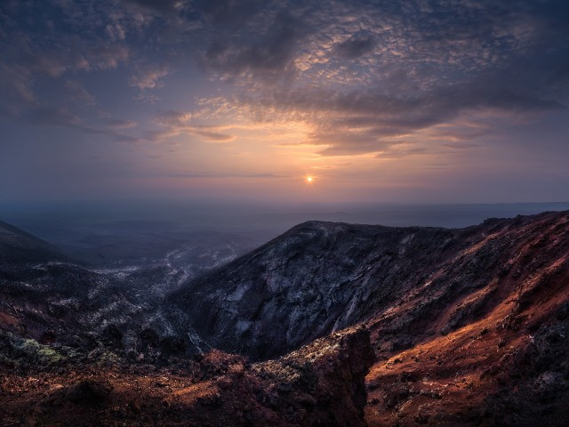 Свет над горизонтом, Камчатка. Автор Изабелла Табаччи