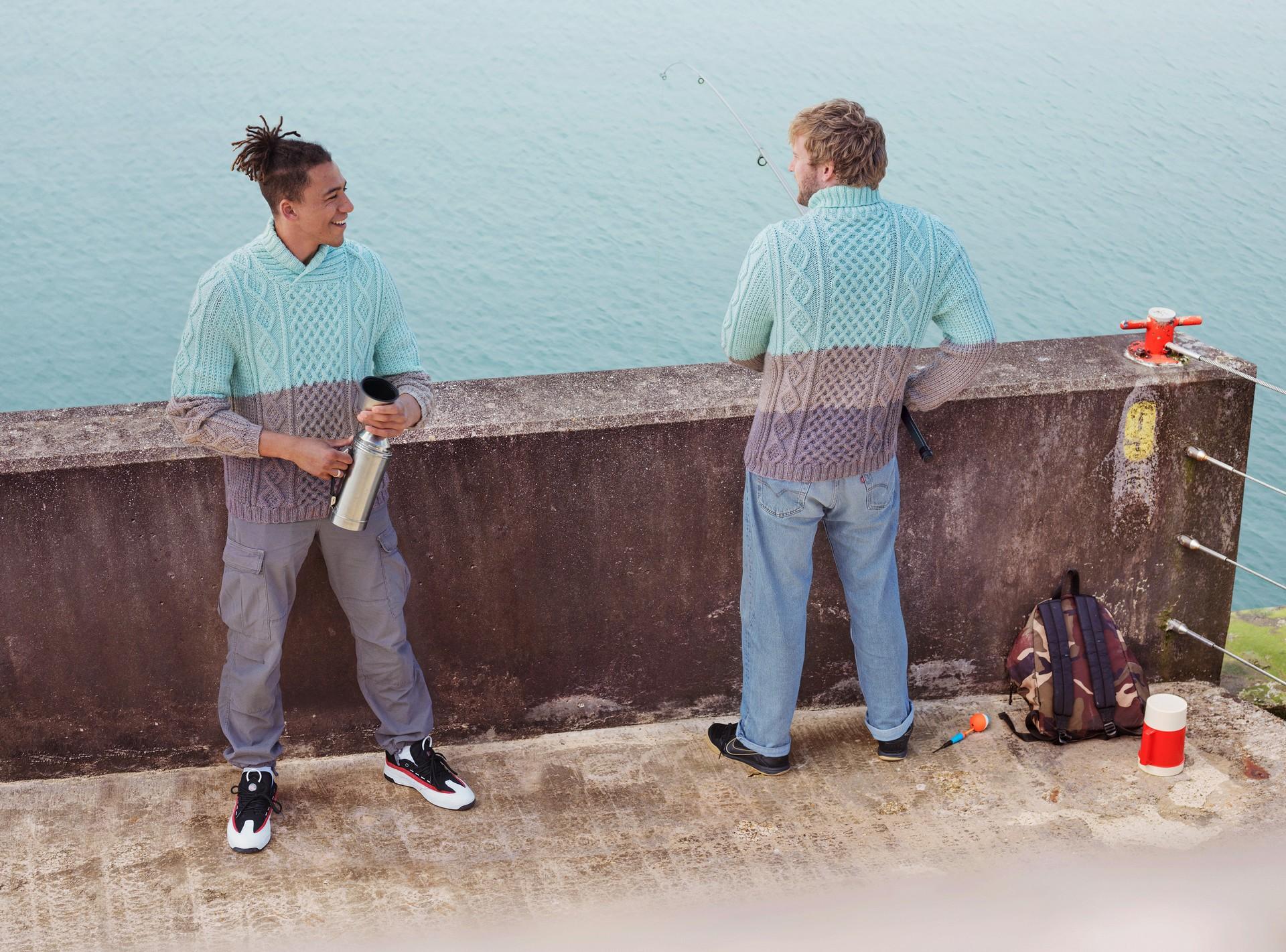 Том и Дре на рыбалке. Автор Джозеф Форд