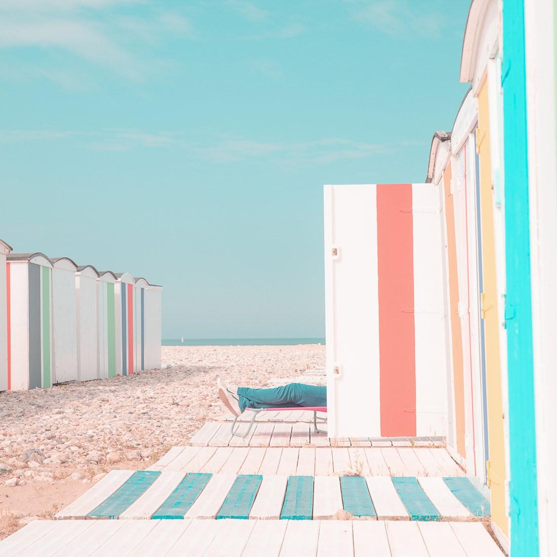 Финалист в категории «Уличная фотография», 2020. На пляже Гавра. Автор Франц Зюссбауэр