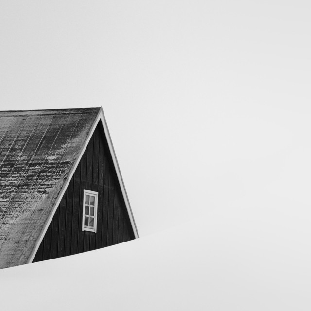 Поощрительная премия в категории «Абстракция» среди любителей, 2020. «Белая мгла». Февральским днём в Западной Гренландии. Автор Патрик Эмс