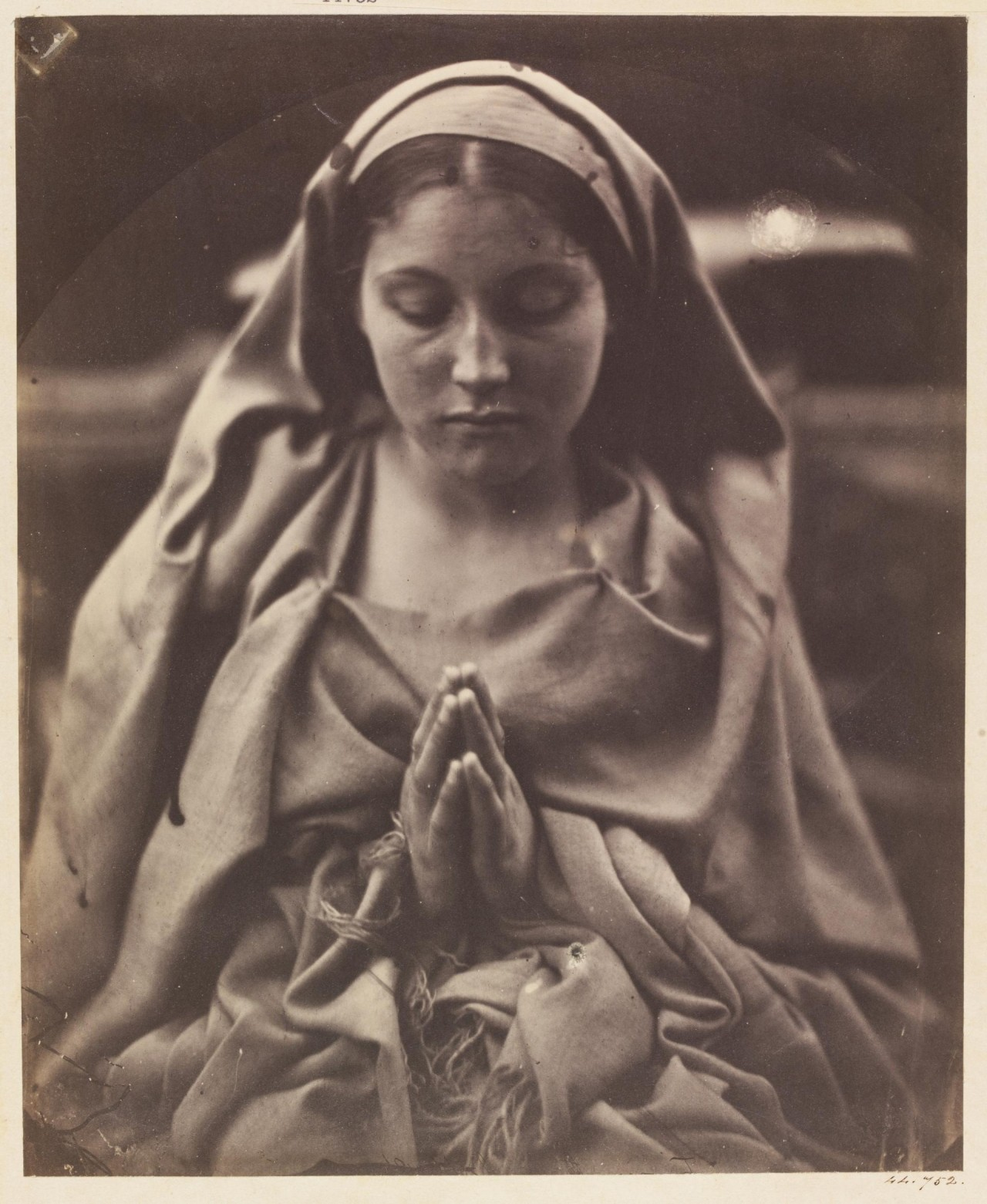 «Святая Агнесса», 1864. Автор Джулия Маргарет Камерон