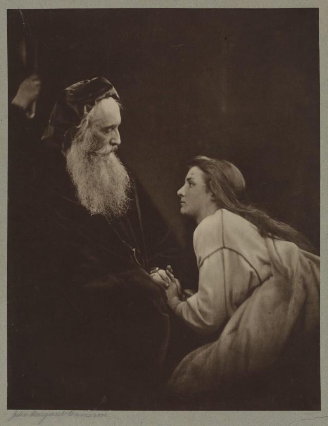 «Просперо и Миранда», 1865. Автор Джулия Маргарет Камерон