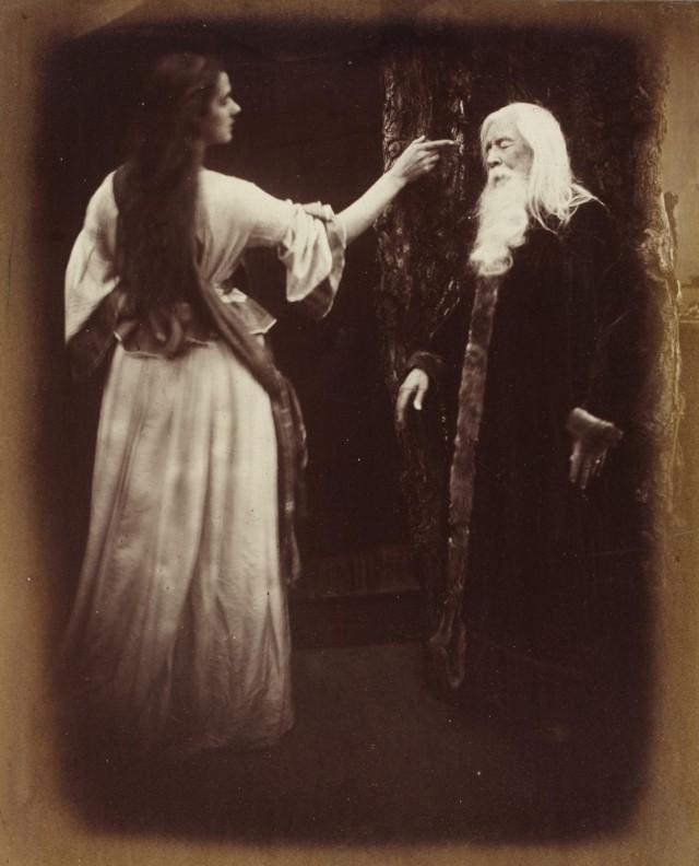«Вивьен и Мерлин», 1874. Автор Джулия Маргарет Камерон