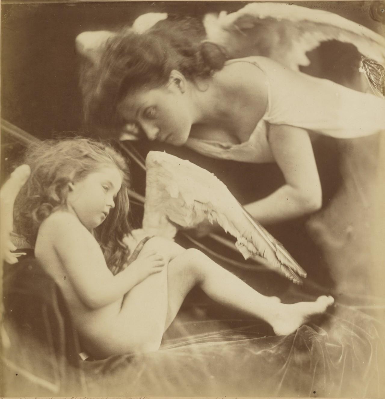 «Венера журит Купидона и снимает крылья», 1872. Автор Джулия Маргарет Камерон