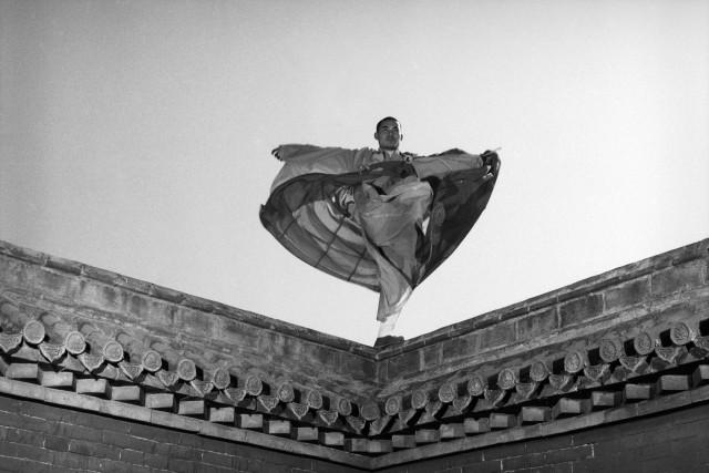 Стойка на крыше. Автор Изабель Муньос