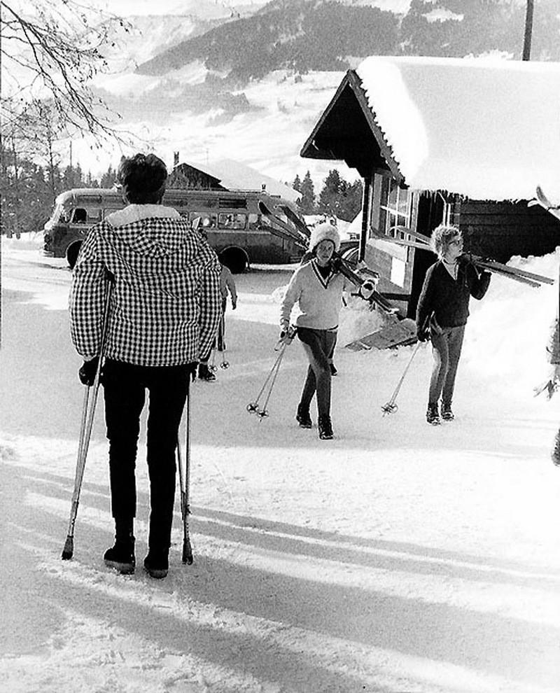 Лыжники. Автор Рене Мальтет