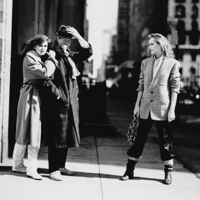 Джиа и Лиза Райалл на улицах Нью-Йорка, 1979. Автор Артур Элгорт