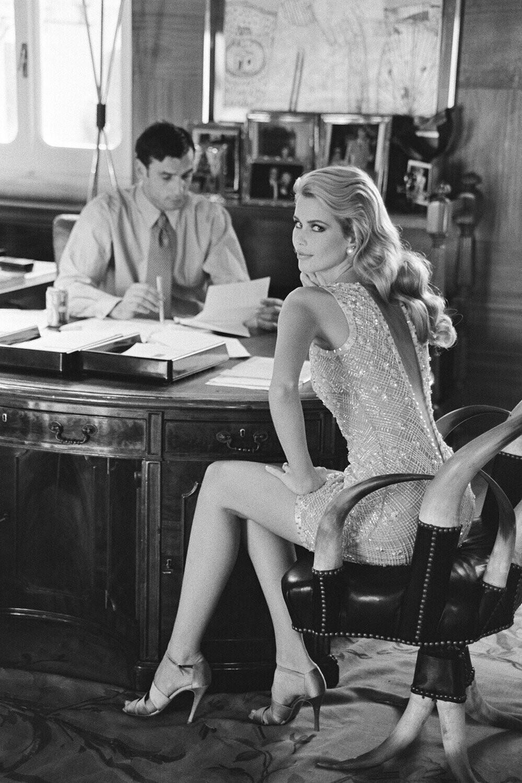 Клаудия Шиффер для Valentino. Рим, 1995. Автор Артур Элгорт