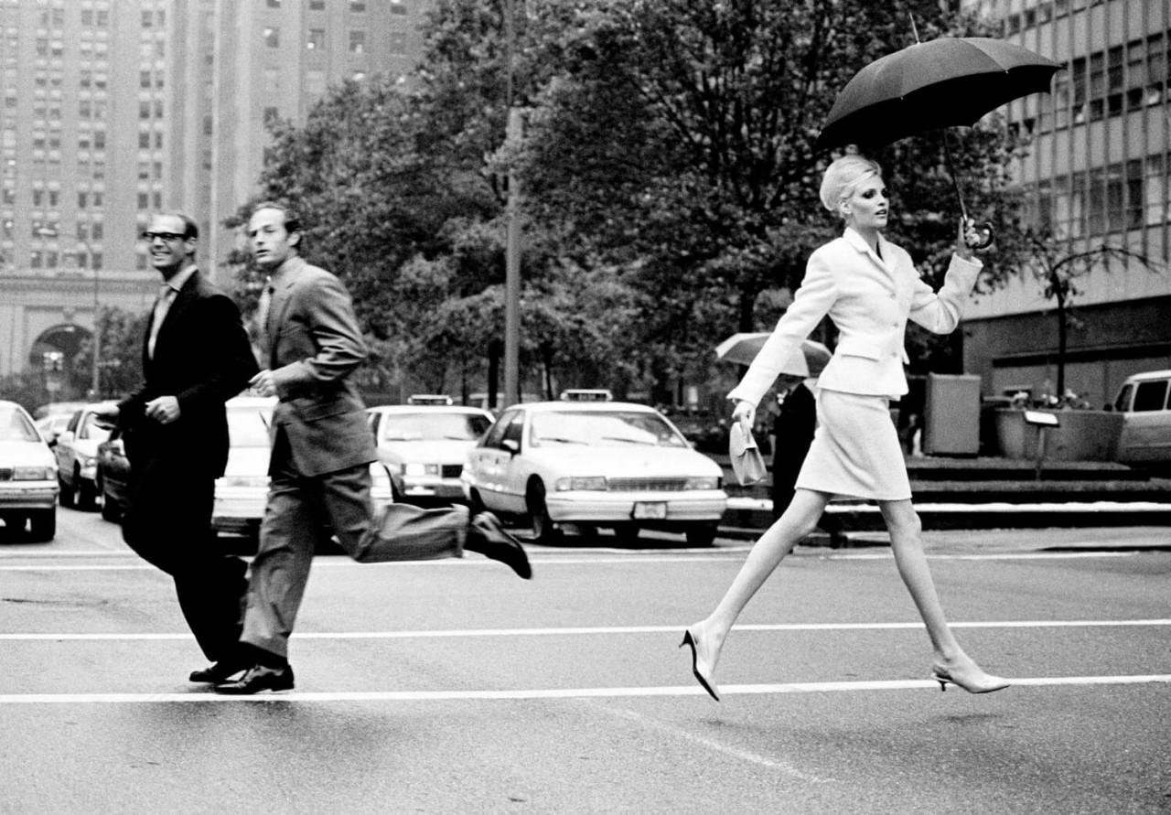Надя Ауэрманн на Парк-авеню, Нью-Йорк, 1995. Автор Артур Элгорт