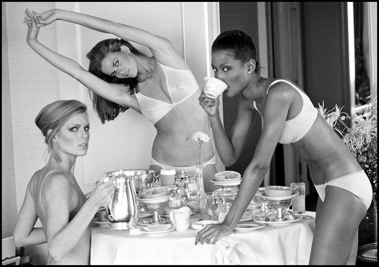 Патти Хансен, Лиза Тейлор и Беверли Джонсон, Сан-Франциско, 1976. Автор Артур Элгорт