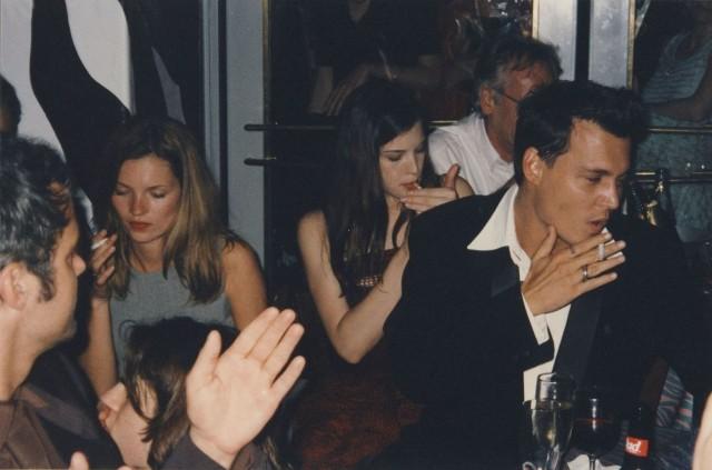 Кейт Мосс, Лив Тайлер и Джонни Депп. Фотограф Майкл Уайт