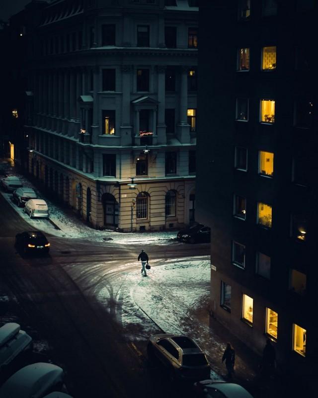 Вечерний Стокгольм, февраль 2020-го. Фотограф Johan Smedja