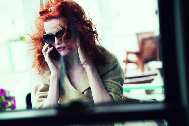 Карен Элсон, Vogue, 2011. Фотограф Петер Линдберг