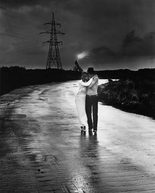 Дорога, 1975. Из серии «Мужчина и женщина». Фотограф Гунар Бинде