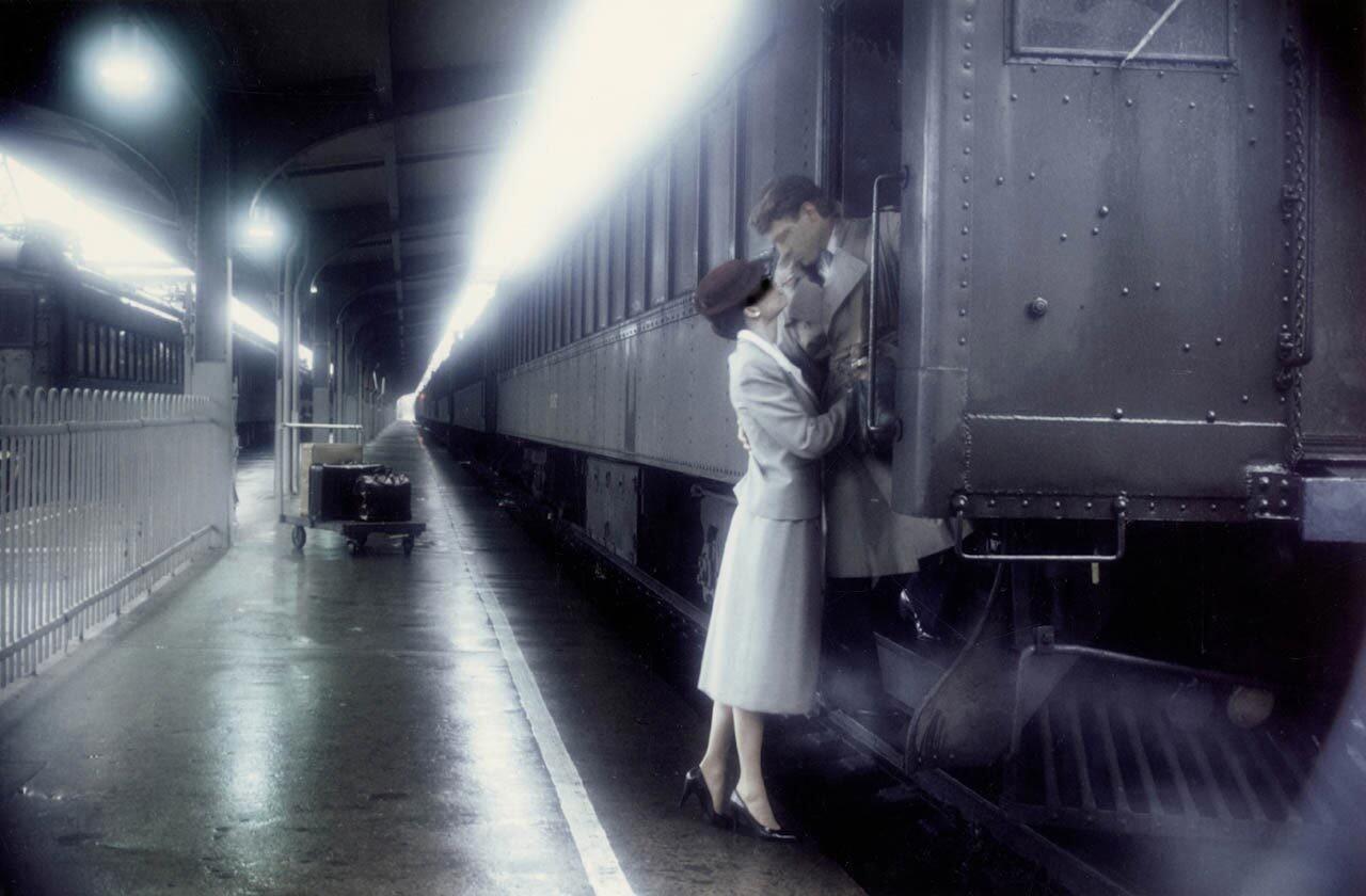 Прощание в поезде, 1983. Фотограф Роберт Фарбер