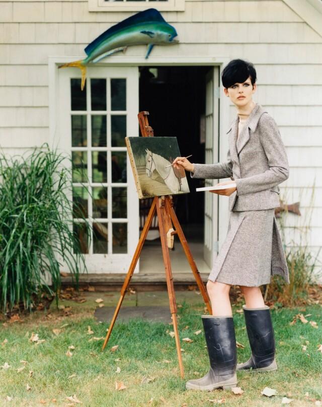 Стелла Теннант для Vogue, октябрь 1995 года. Фотограф Артур Элгорт